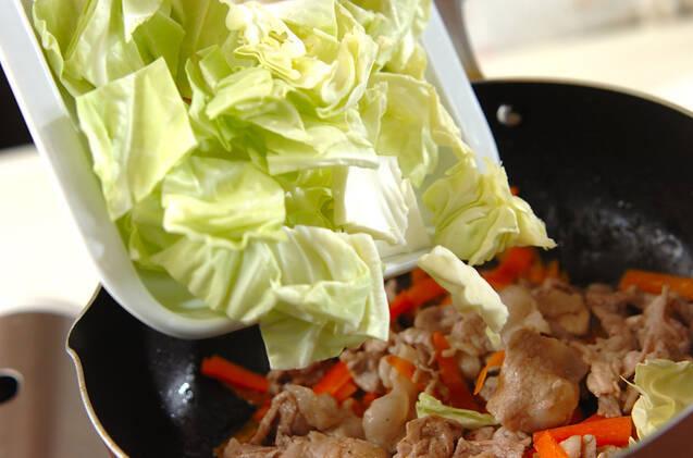 キャベツと豚の炒め物の作り方の手順6