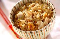 豚と大根の中華炊き込みご飯