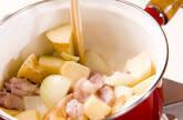鶏ジャガのさっぱり卵とじの作り方2