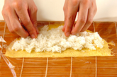 卵の細巻き寿司の作り方2