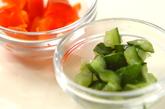 塩もみキュウリのサラダの作り方1