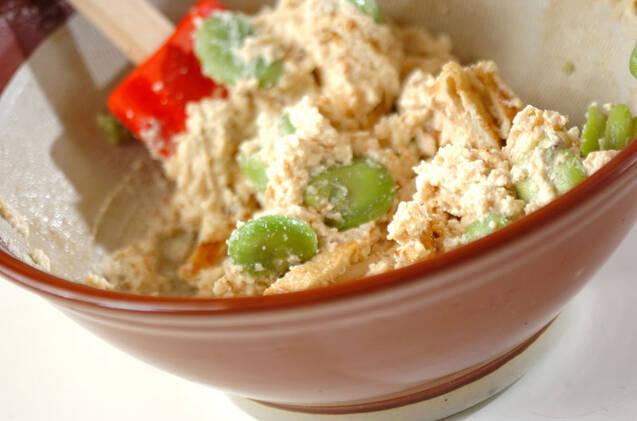 ソラ豆の白和えの作り方の手順5