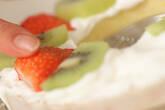 バウムクーヘンでケーキの作り方3
