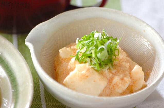 長芋を明太こマヨネーズで和えたひと品