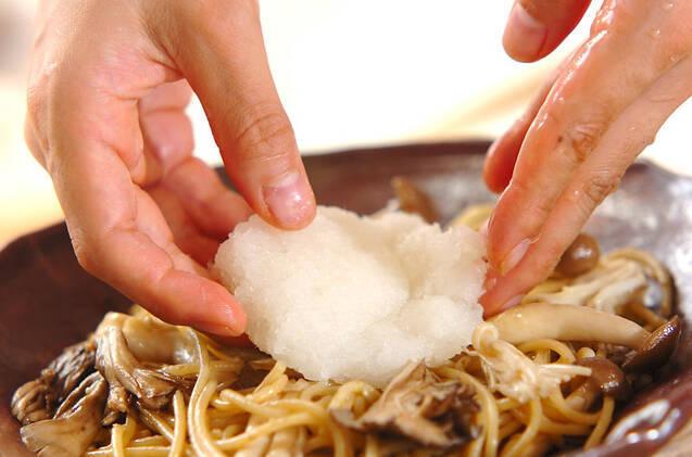 キノコの和風おろしパスタの作り方の手順8