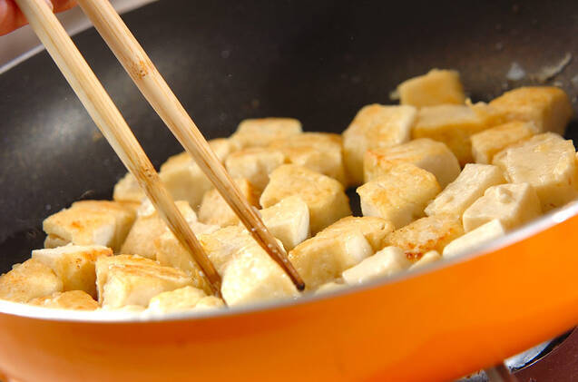 豆腐のバルサミコソテーの作り方の手順3