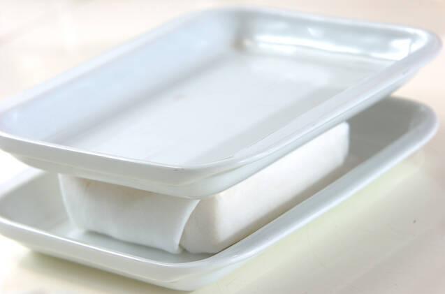 豆腐のバルサミコソテーの作り方の手順1