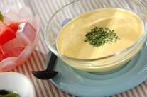 フレッシュコーンの豆乳スープ