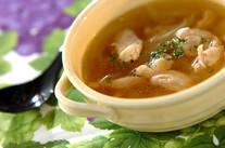 チキンと玉ネギのスープ