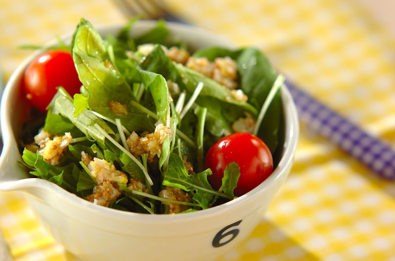 水菜とルッコラのサラダ