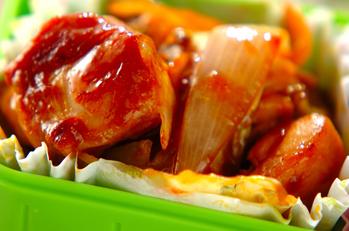鶏とキャベツのコチュジャン炒め