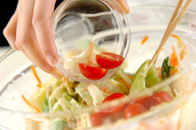 ゆでキャベツとホタテ缶のマヨネーズサラダの作り方の手順6