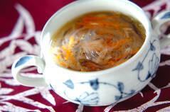 春雨とツナのスープ