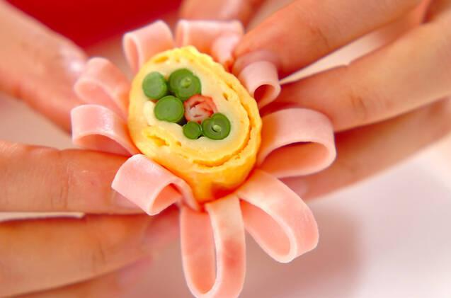 卵のフラワーロールの作り方の手順7