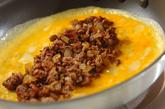 ひき肉のオムレツの作り方4