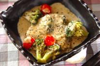 サワラとブロッコリーのクリーム煮
