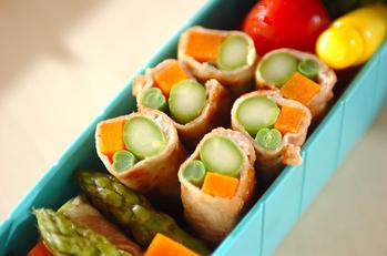 野菜の肉巻き