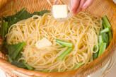 小松菜のシンプルパスタの作り方3