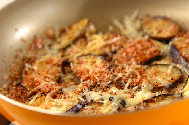 ナスのおかかチーズ焼きの作り方の手順4