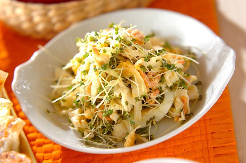 11.切干大根とゆで卵のサラダ
