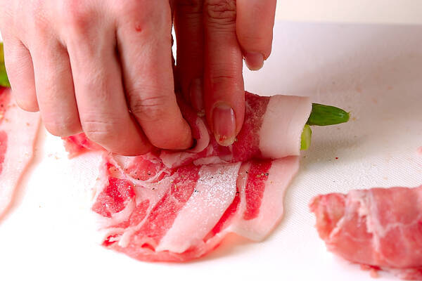 豚肉のロール巻きの作り方の手順2