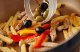 豚肉とジャガイモのバジル炒めの作り方2
