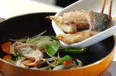 揚げ焼きサバの甘酢炒めの作り方4