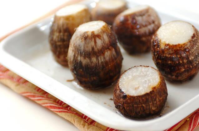 里芋のユズコショウマヨ和えの作り方の手順1