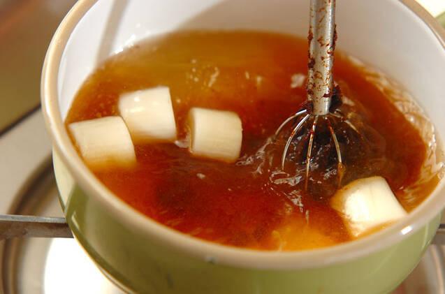 大葉入り焼きナスのみそ汁の作り方の手順5