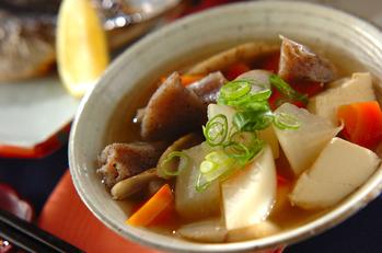 豆腐と根菜の煮物