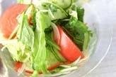 レタスとトマトのサラダ