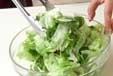 レタスとトマトのサラダの作り方1