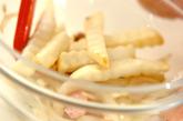 ソーセージとジャガイモのマスタード炒めの作り方2