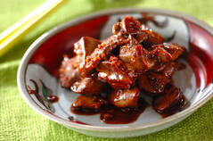 鶏レバーの甘辛炒め煮
