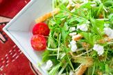 水菜のサラダ・ゴマドレ