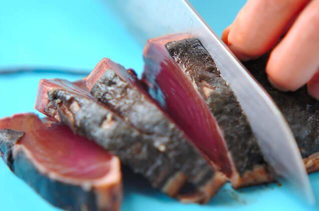 カツオのたたき・梅肉みそダレの作り方の手順1