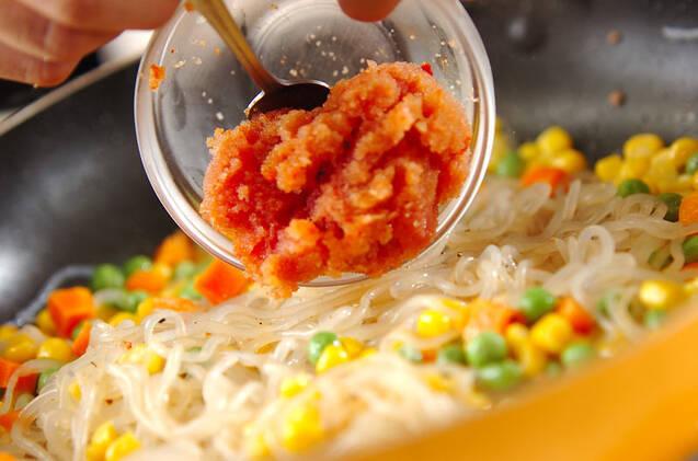 糸コンニャクの明太炒めの作り方の手順4