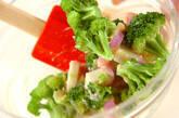 カマボコのからし酢みそ和えの作り方4