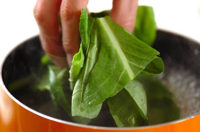 小松菜と高野豆腐のサッと煮の作り方の手順4