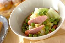 エンドウ豆と春キャベツのサラダ