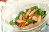 小松菜とさつま揚げのレンジ煮の作り方1