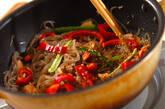 しらたきと鮭の炒め物の作り方3