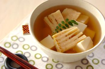 焼きタケノコのスープ