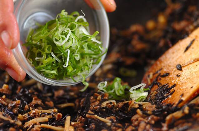 ヒジキのみそ炒めの作り方の手順5