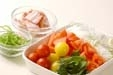 フレッシュトマトパスタの下準備1