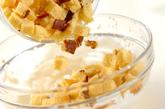 簡単カステラメープルアイスの作り方1