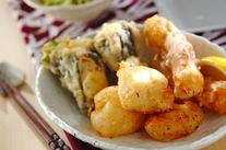ホタテとチーズの天ぷら