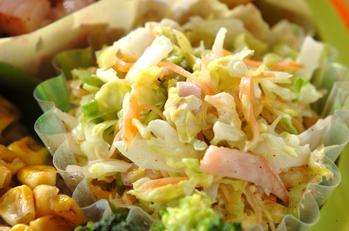 キャベツとハムのサラダ