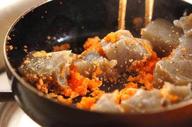 コンニャクの明太子炒めの作り方の手順3