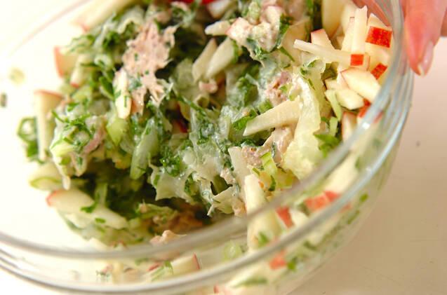 セロリのツナサラダの作り方の手順3